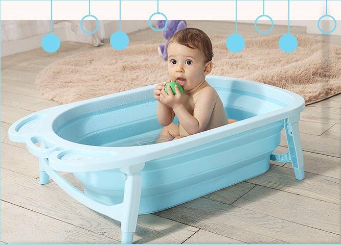 Детская складная ванна Folding Baby Bathtub (Цвет: Голубой)