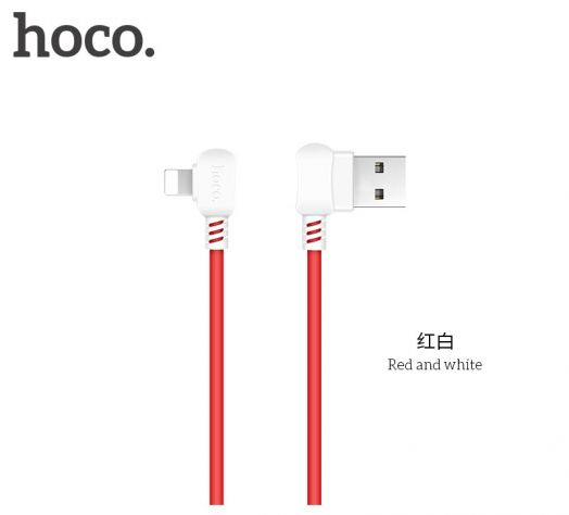 Кабель USB-Lightning Hoco X19 Enjoy, 1м, черно-белый