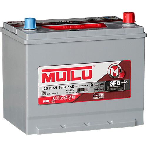 Автомобильный аккумулятор АКБ MUTLU (Мутлу) D26.75.064.С SMF 90D26FL 75Ач О.П. нижнее крепление
