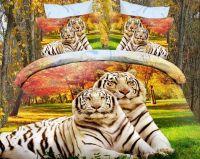 Постельное белье Белые тигры, сатин (Luxor)