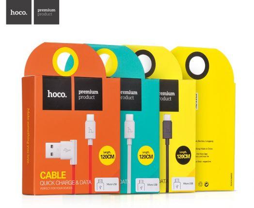 Кабель USB-MicroUSB Hoco UMP10 Shape, красный