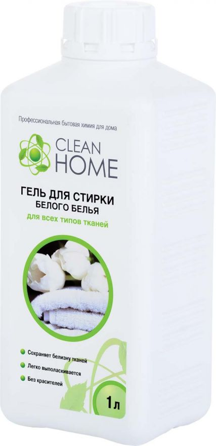 Гель для стирки белого белья CLEAN HOME (Клин Хоум) 1000 мл