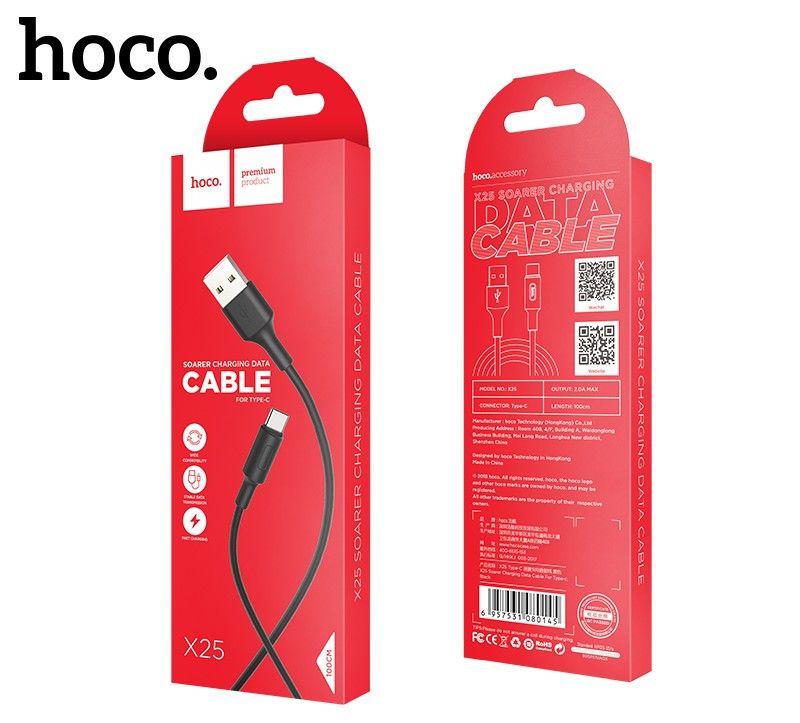 Кабель USB-Type-C Hoco X25 Soarer, черный