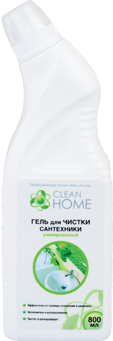 Гель для чистки сантехники CLEAN HOME (Клин Хоум) 800 мл