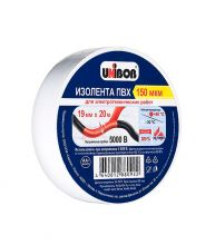 Изолента ПВХ UNIBOB 19мм*20м белая