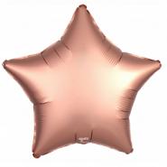 "Звезда, розовое золото, сатин, 18""/ 46 см, Agura"