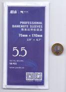 Холдеры для банкнот №5,5 50 шт в упаковке. 75*170мм