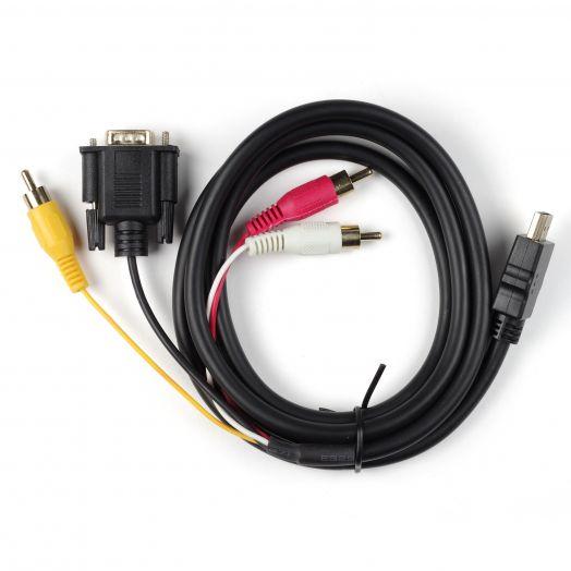Кабель HDMI  + VGA + 3RCA 1.5 м *