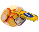 Молочный шоколад only монетки и купюры евро 100 гр