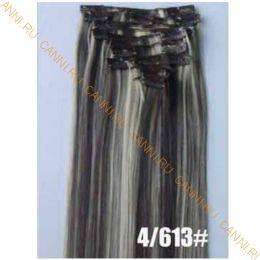 Искусственные термостойкие волосы на заколках №P4/613 (55 см) - 12 заколок, 130 гр.