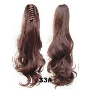 Искусственные термостойкие волосы на зажиме волнистые №033 (55 см) -  170 гр.