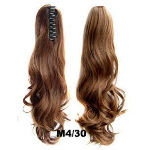 Искусственные термостойкие волосы на зажиме волнистые №M4/30 (55 см) -  170 гр.