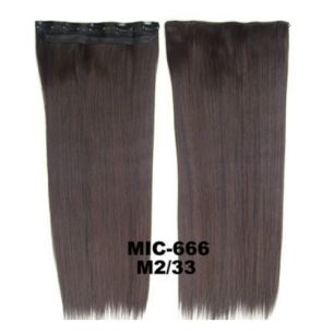Искусственные термостойкие волосы на заколках на трессе №M2/33 (55 см) - 1 тресса, 100 гр.