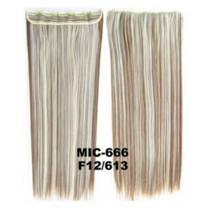 Искусственные термостойкие волосы на заколках на трессе №F12/613 (55 см) - 1 тресса, 100 гр.
