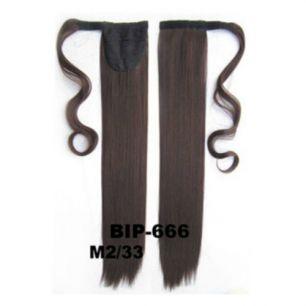 Искусственные термостойкие волосы - хвост прямые №М02/33 (55 см) -  90 гр.