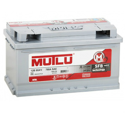 Автомобильный аккумулятор АКБ MUTLU (Мутлу) LB4.80.074.A SMF 58014 80Ач О.П.