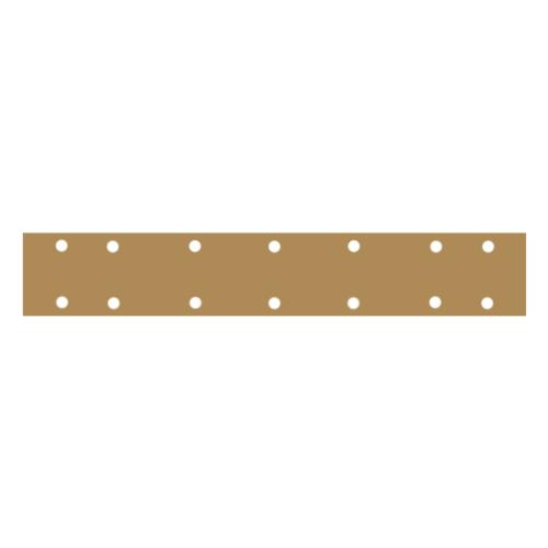 """Mirka GOLD Абразивная полоска на бумажной основе """"липучка""""  70мм. x 420мм. 14 отверстий P60"""