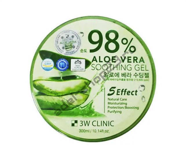 3W Clinic - Многофункциональный успокаивающий гель с алоэ вера 98%