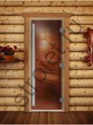Дверь Престиж (бронза), 190х70, 8 мм, 3 петли, коробка ольха.
