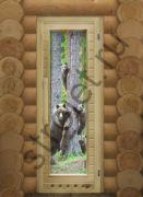 """Дверь Элит с рисунком """"Мишки"""" с вентиляцией, 1820х72, коробка липа."""