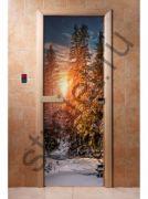 """Дверь Элит """"Зима"""" с вентиляцией,182х72, 8 мм, 3 петли, коробка ольха."""