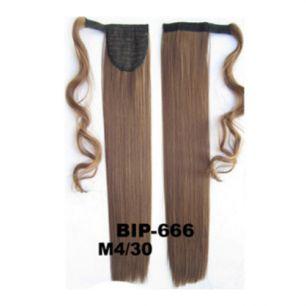 Искусственные термостойкие волосы - хвост прямые №M004/30 (55 см) -  90 гр.