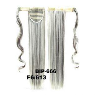 Искусственные термостойкие волосы - хвост прямые №F006/613 (55 см) -  90 гр.