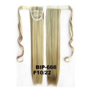 Искусственные термостойкие волосы - хвост прямые №F010/22 (55 см) -  90 гр.