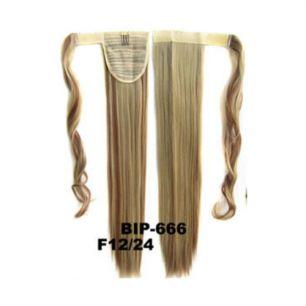 Искусственные термостойкие волосы - хвост прямые №F012/24 (55 см) -  90 гр.