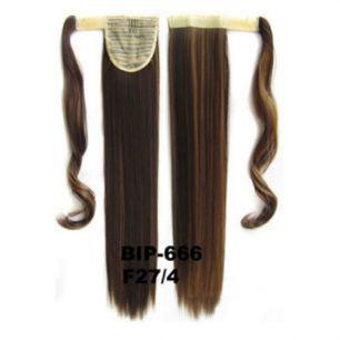 Искусственные термостойкие волосы - хвост прямые №F027/4 (55 см) -  90 гр.