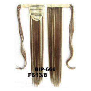 Искусственные термостойкие волосы - хвост прямые №F613/8 (55 см) -  90 гр.