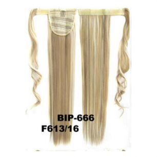 Искусственные термостойкие волосы - хвост прямые №F613/16 (55 см) -  90 гр.