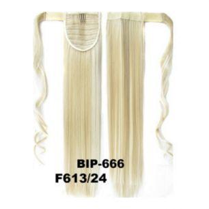 Искусственные термостойкие волосы - хвост прямые №F613/24 (55 см) -  90 гр.