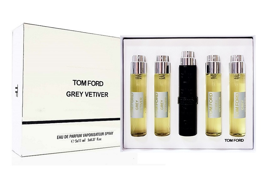 Tom Ford подарочный набор духов Grey Vetiver, 5 х 11 ml