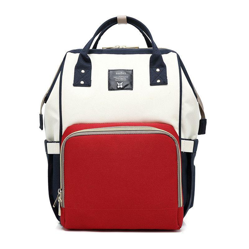 Сумка-Рюкзак Для Мамы Baby Mo (Mummy Bag), Цвет Синий-Белый-Красный