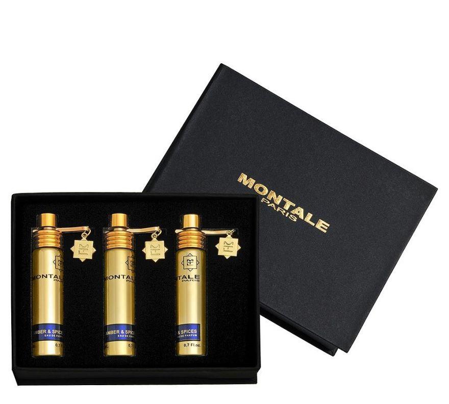 Montale подарочный набор духов Amber & Spices, 3 x 20 ml