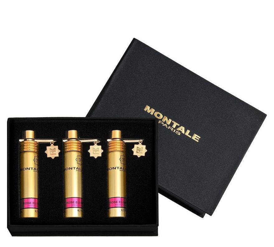 Montale подарочный набор духов Rose Elixir, 3 x 20 ml