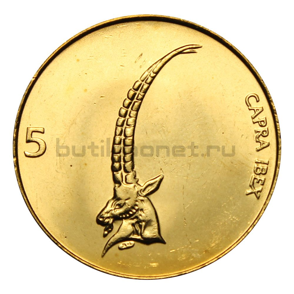 5 толаров 2000 Словения