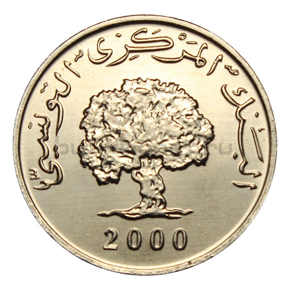 1 миллим 2000 Тунис