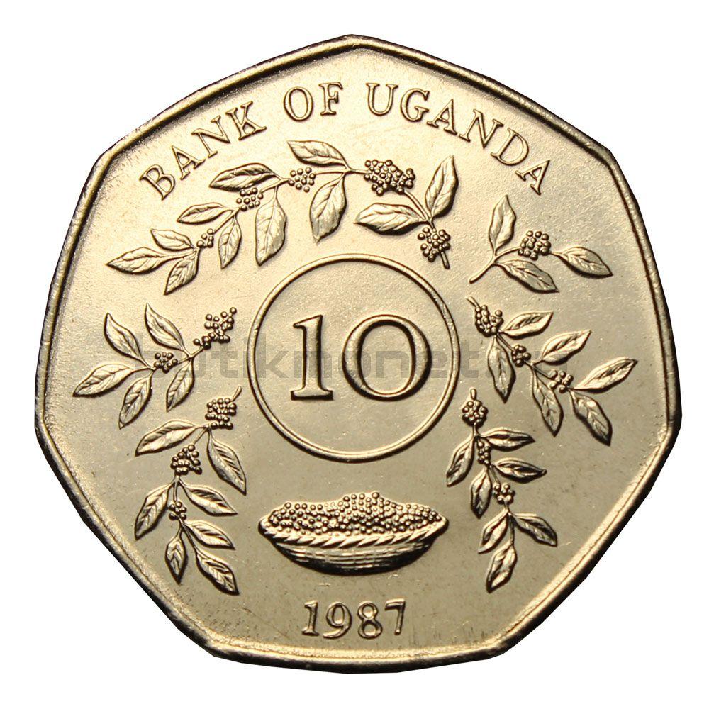 10 шиллингов 1987 Уганда