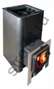 Печь для бани Конвектика Олимп 18 с парогенератором и чуг.дверцей со стеклом антрацит