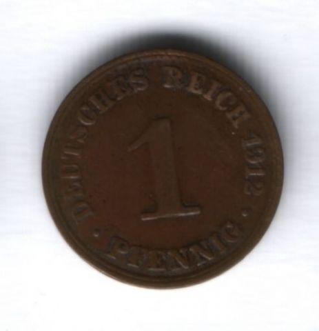 1 пфенниг 1912 года Германия, А