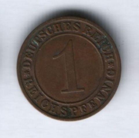 1 пфенниг 1936 года Германия, А