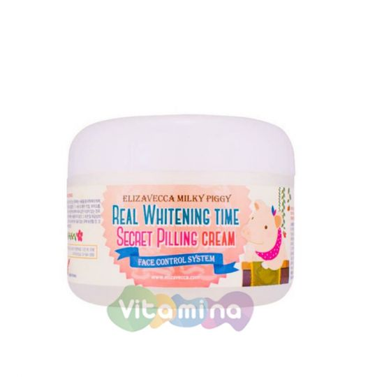 Elizavecca Осветляющий крем-пилинг для лица Milky Piggy Real Whitening Time Secret Pilling Cream
