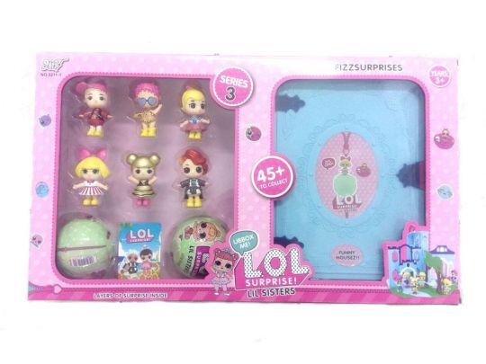 Набор кукол LOL SISTERS с домиком-трансформером