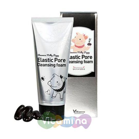 Elizavecca Пенка-маска для умывания Milky Piggy Elastic Pore Cleansing Foam, 120 мл