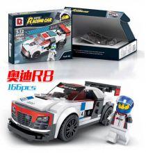 Конструктор Лего автомобиль Speed Champions Ауди Р8 166 деталей
