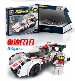 Конструктор Лего автомобиль Speed Champions Ауди Р18 166 деталей