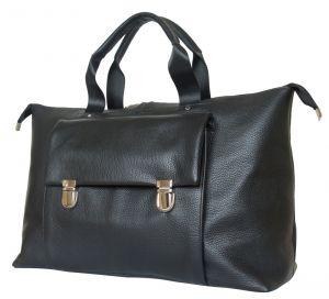 Кожаная дорожная сумка Alberola black
