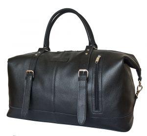 Кожаная дорожная сумка Campora black
